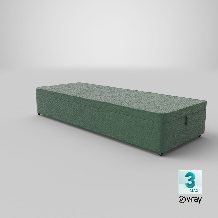 Bed Base 02 Mint royalty-free 3d model - Preview no. 25