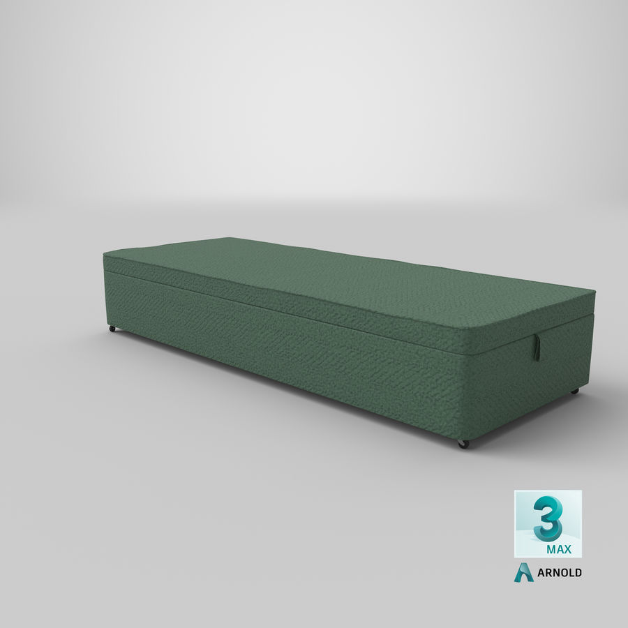 Bed Base 02 Mint royalty-free 3d model - Preview no. 23