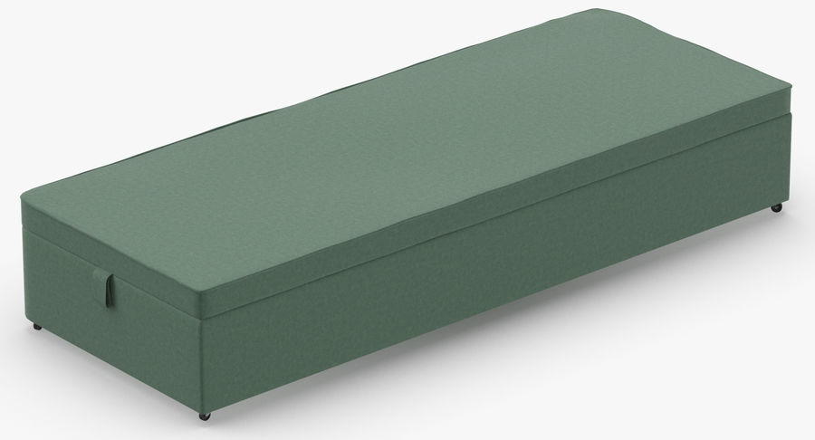 Bed Base 02 Mint royalty-free 3d model - Preview no. 6