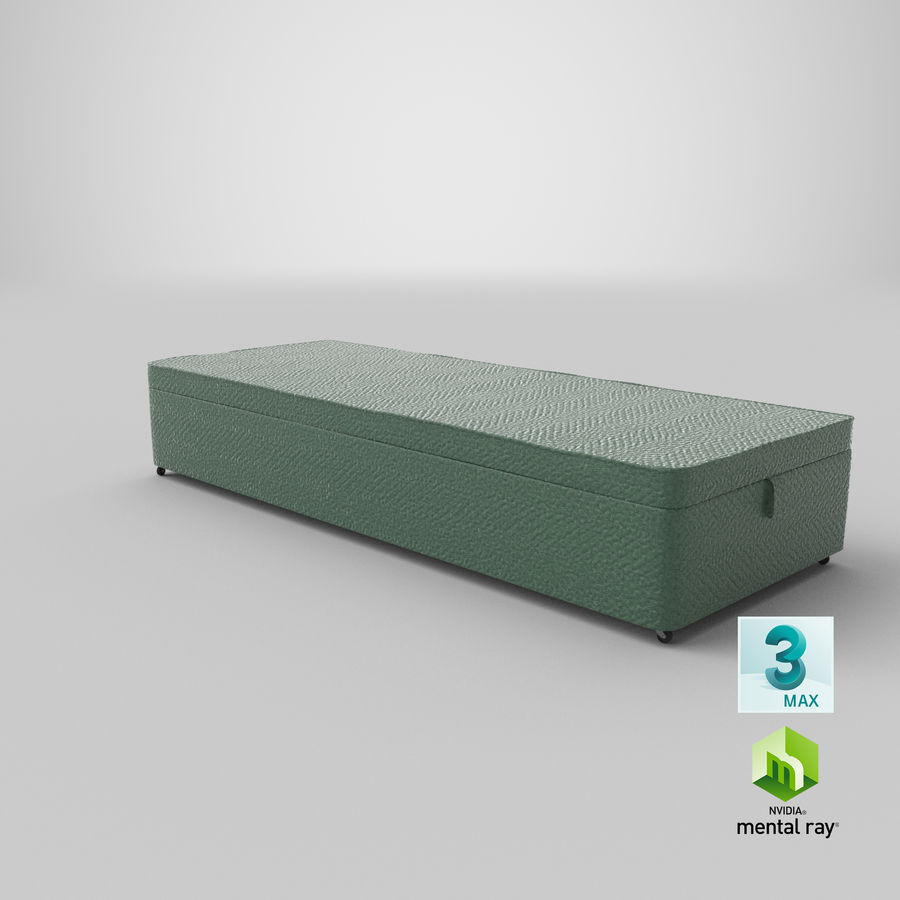 Bed Base 02 Mint royalty-free 3d model - Preview no. 24