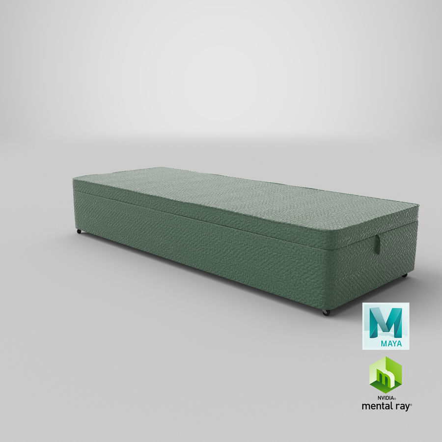 Bed Base 02 Mint royalty-free 3d model - Preview no. 27
