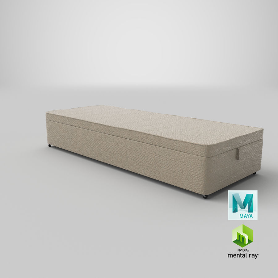 Bed Base 02 Oatmeal royalty-free 3d model - Preview no. 27