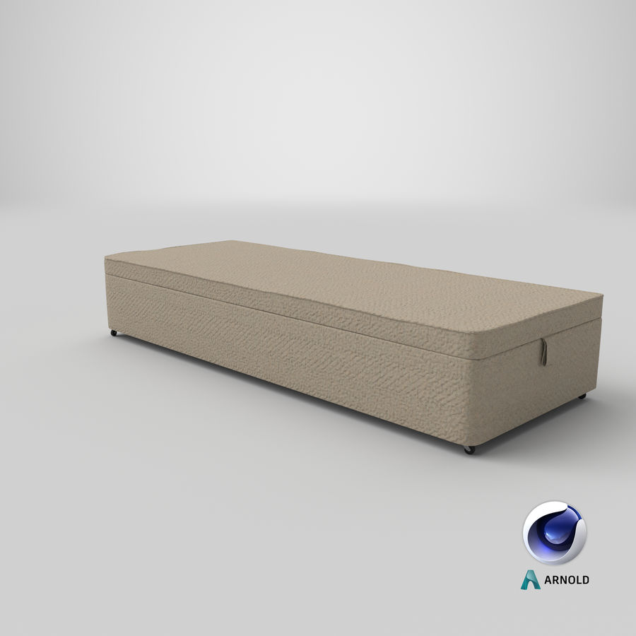 Bed Base 02 Oatmeal royalty-free 3d model - Preview no. 22