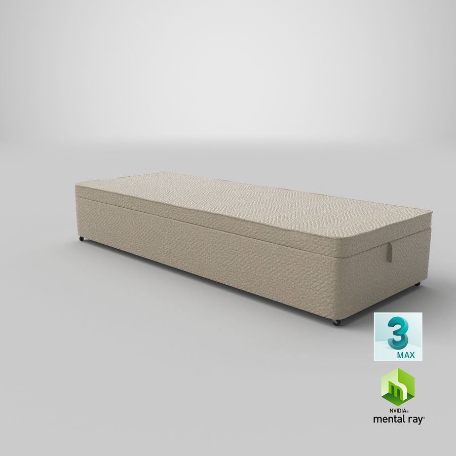 Bed Base 02 Oatmeal royalty-free 3d model - Preview no. 24