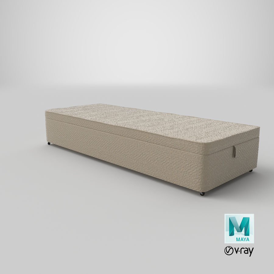 Bed Base 02 Oatmeal royalty-free 3d model - Preview no. 28
