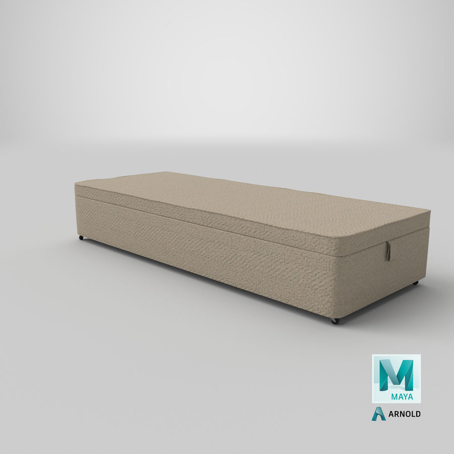 Bed Base 02 Oatmeal royalty-free 3d model - Preview no. 26