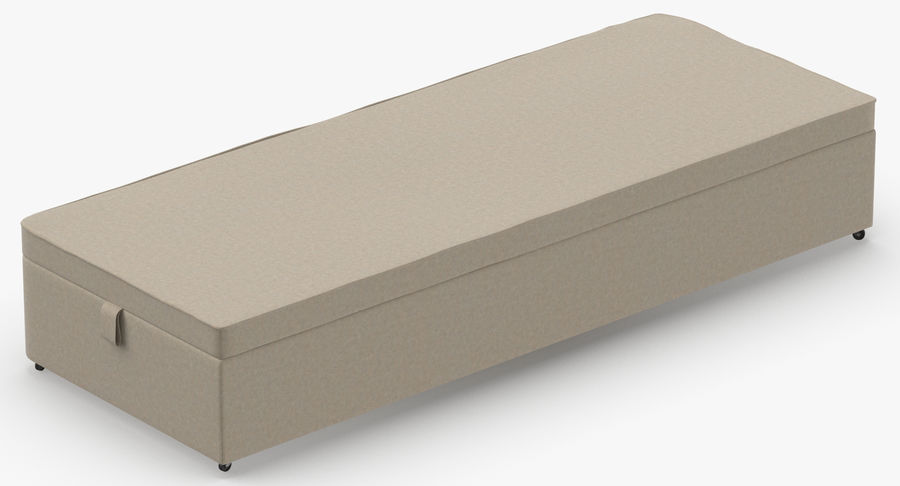 Bed Base 02 Oatmeal royalty-free 3d model - Preview no. 6