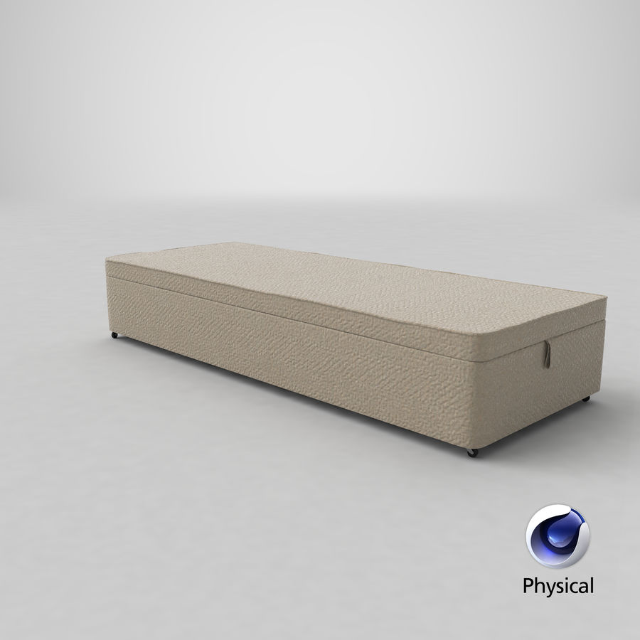 Bed Base 02 Oatmeal royalty-free 3d model - Preview no. 21