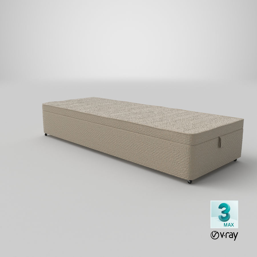 Bed Base 02 Oatmeal royalty-free 3d model - Preview no. 25