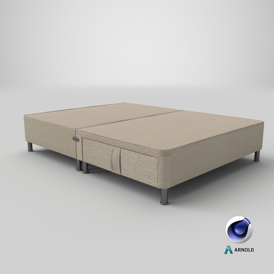 Bed Base 06 Oatmeal royalty-free 3d model - Preview no. 21