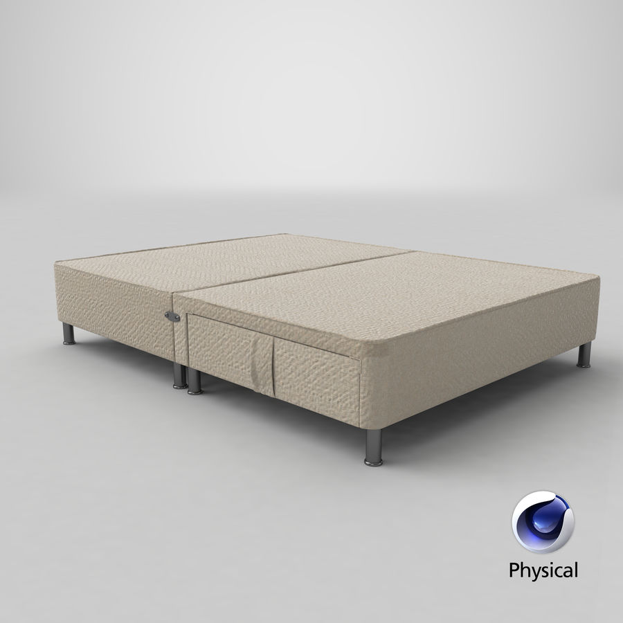 Bed Base 06 Oatmeal royalty-free 3d model - Preview no. 20