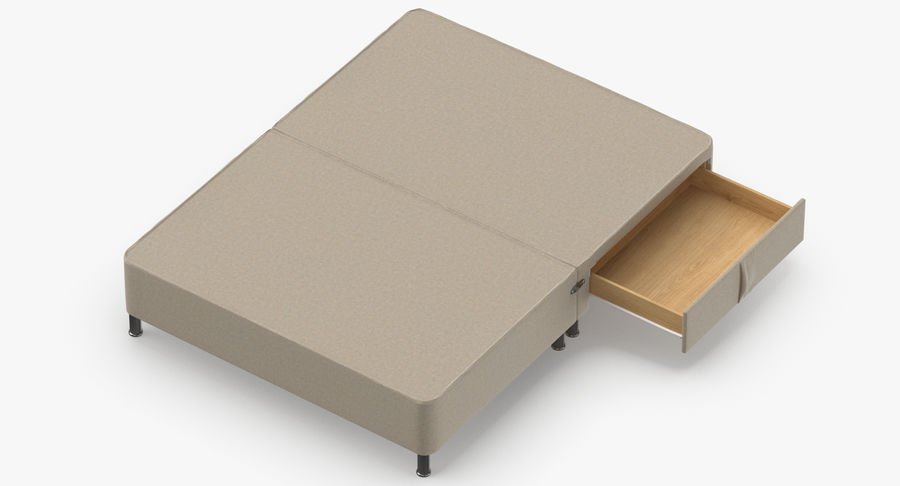 Bed Base 06 Oatmeal royalty-free 3d model - Preview no. 7