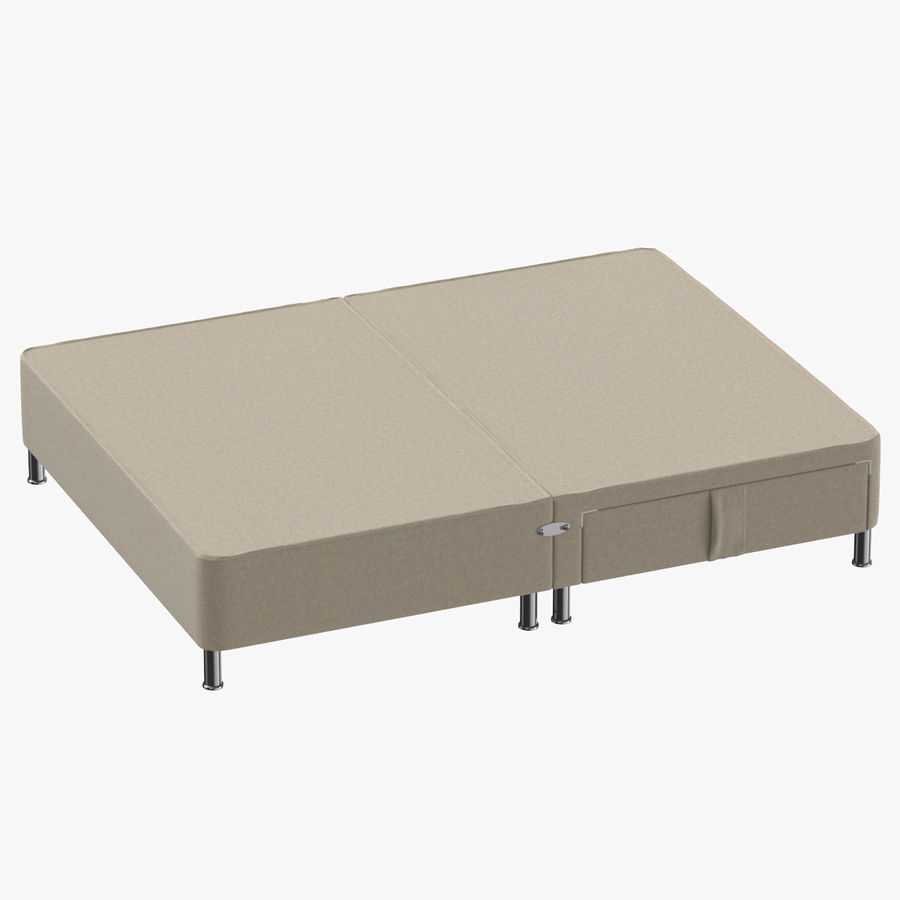 Bed Base 06 Oatmeal royalty-free 3d model - Preview no. 1