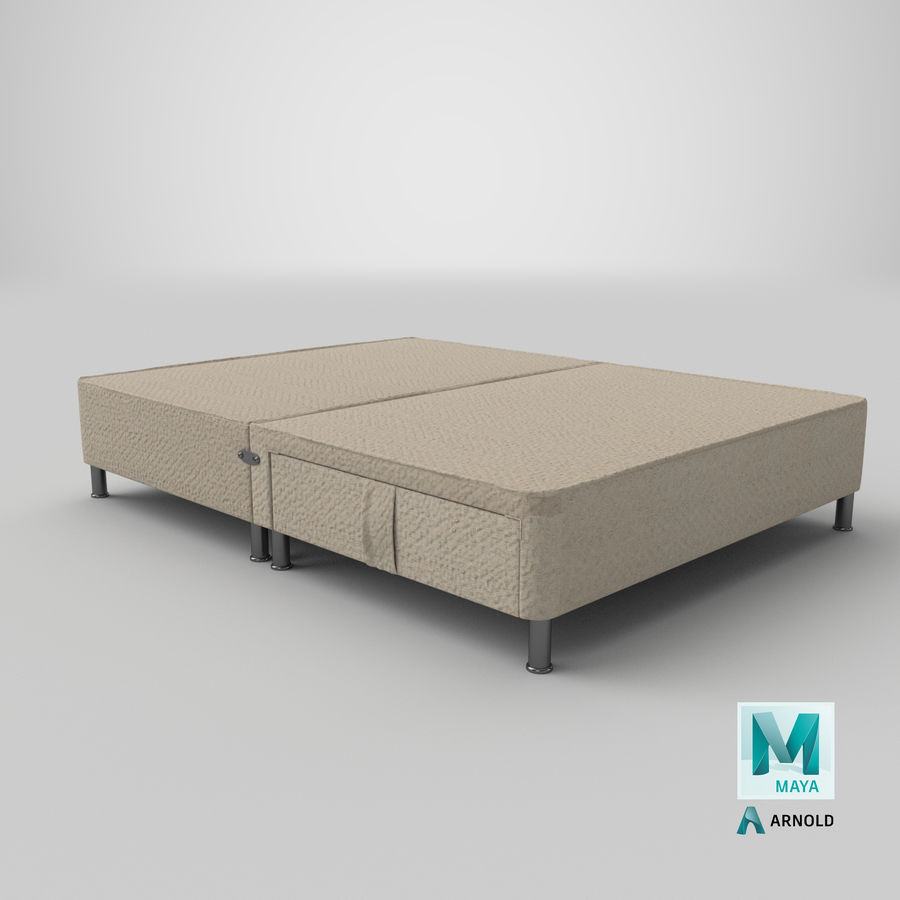 Bed Base 06 Oatmeal royalty-free 3d model - Preview no. 25