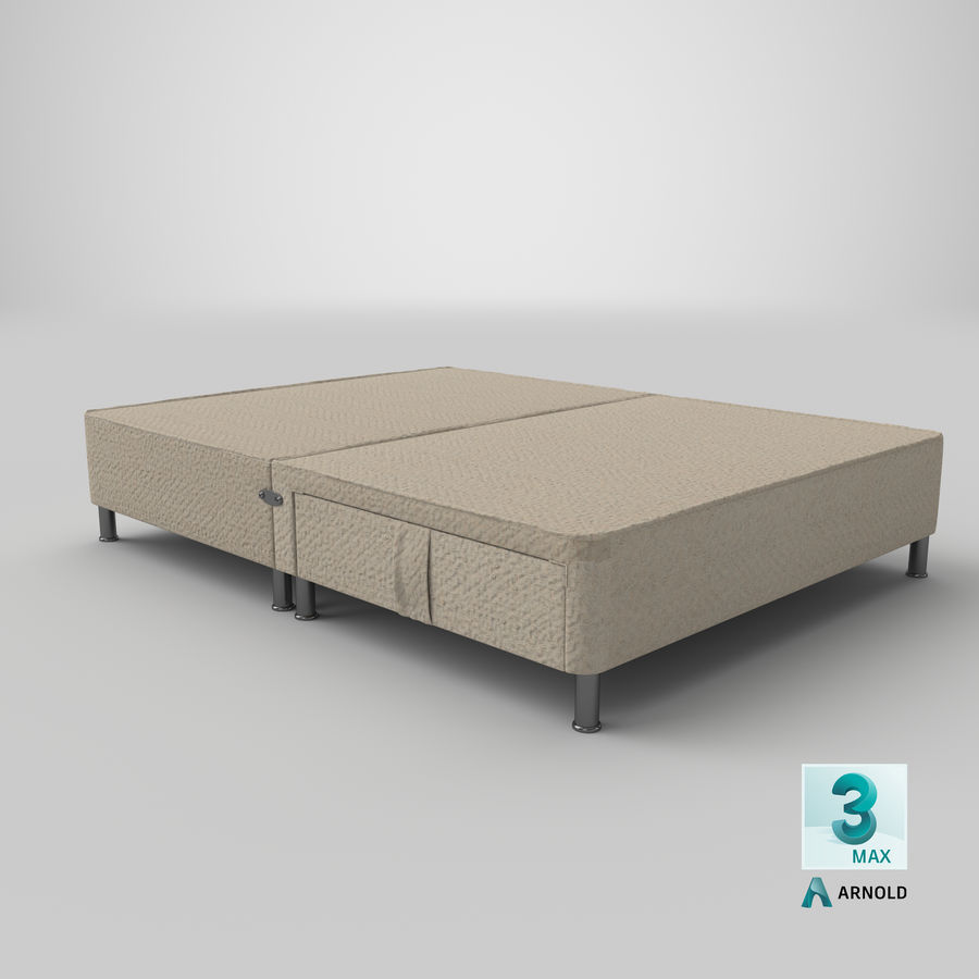Bed Base 06 Oatmeal royalty-free 3d model - Preview no. 22
