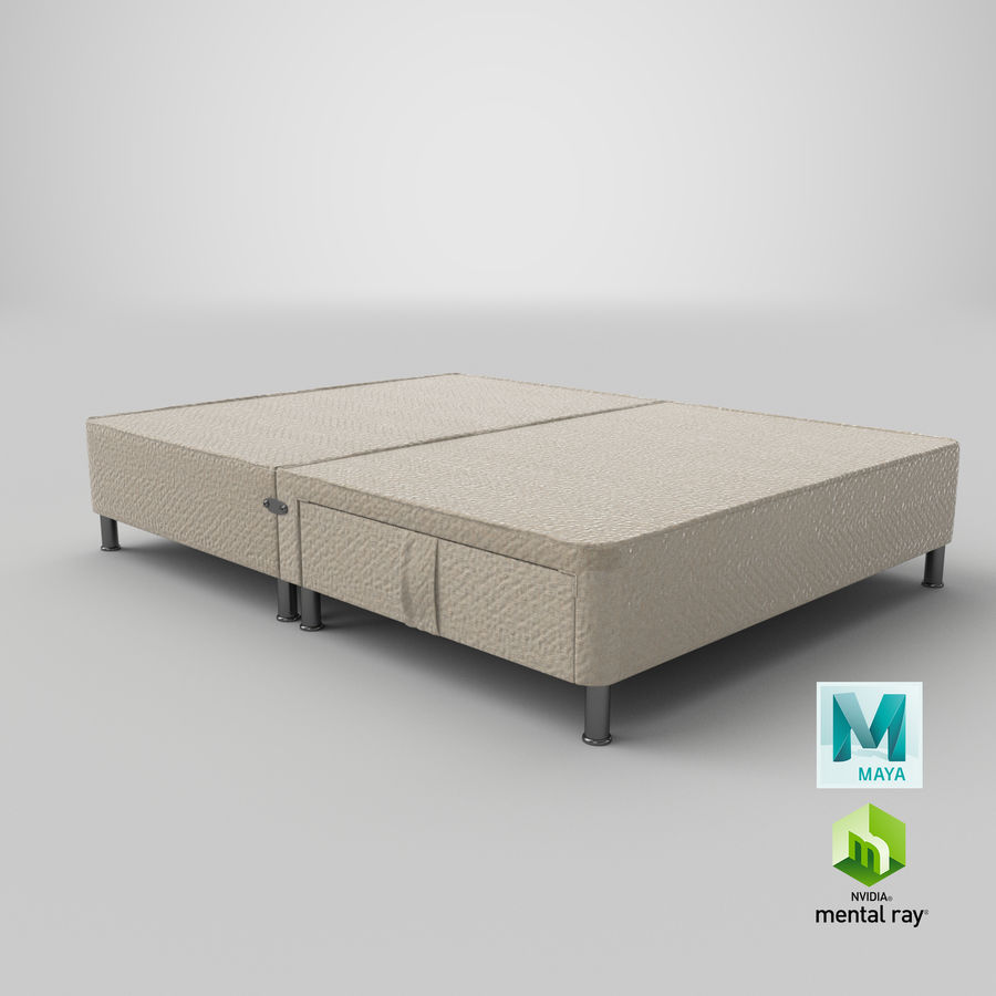 Bed Base 06 Oatmeal royalty-free 3d model - Preview no. 26