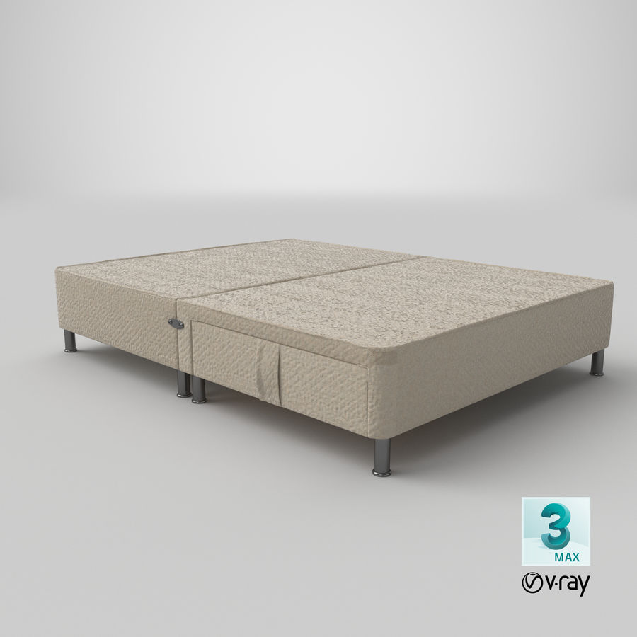 Bed Base 06 Oatmeal royalty-free 3d model - Preview no. 24
