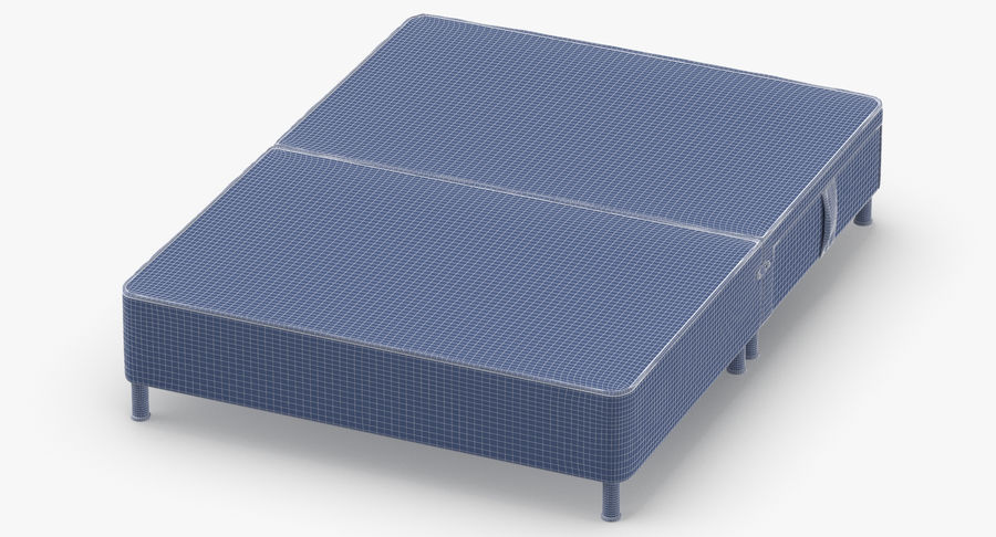 Bed Base 06 Oatmeal royalty-free 3d model - Preview no. 12