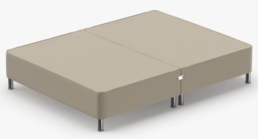 Bed Base 06 Oatmeal royalty-free 3d model - Preview no. 6