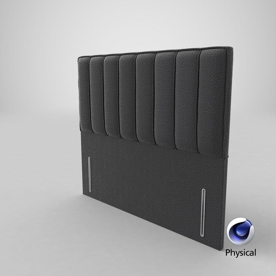 Headboard 04 Charcoal royalty-free 3d model - Preview no. 21