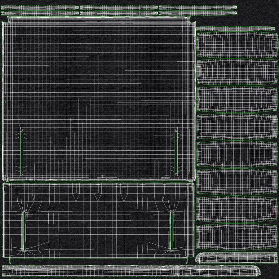 Изголовье 04 Древесный уголь royalty-free 3d model - Preview no. 20