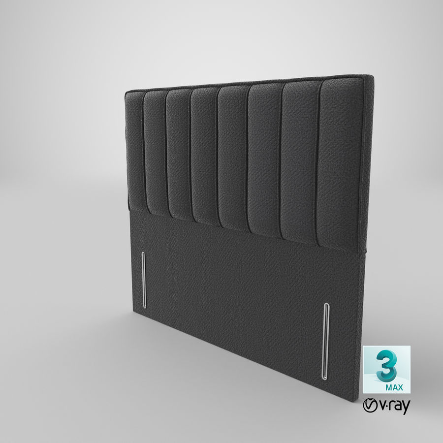 Headboard 04 Charcoal royalty-free 3d model - Preview no. 25