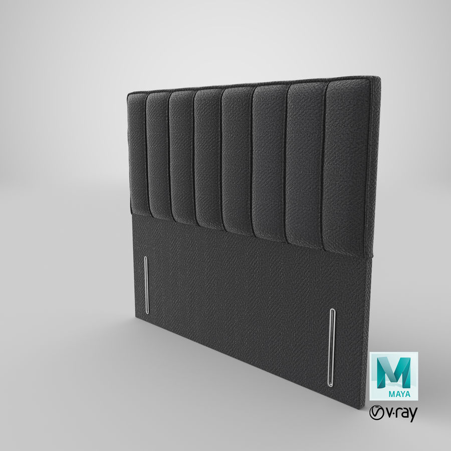 Headboard 04 Charcoal royalty-free 3d model - Preview no. 28