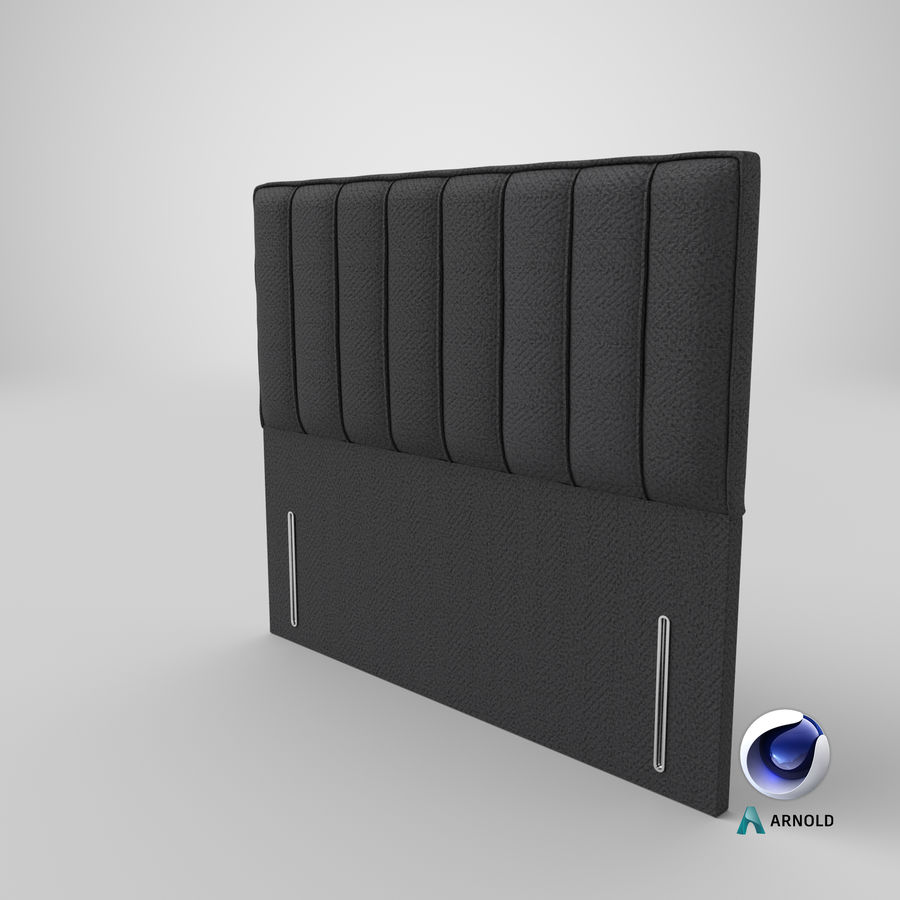 Headboard 04 Charcoal royalty-free 3d model - Preview no. 22