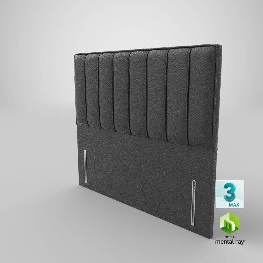 Headboard 04 Charcoal royalty-free 3d model - Preview no. 24