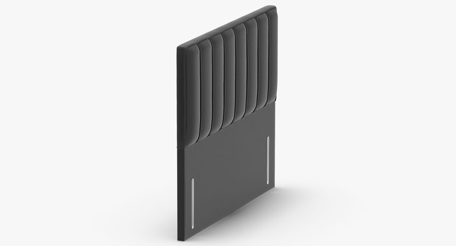 Headboard 04 Charcoal royalty-free 3d model - Preview no. 4