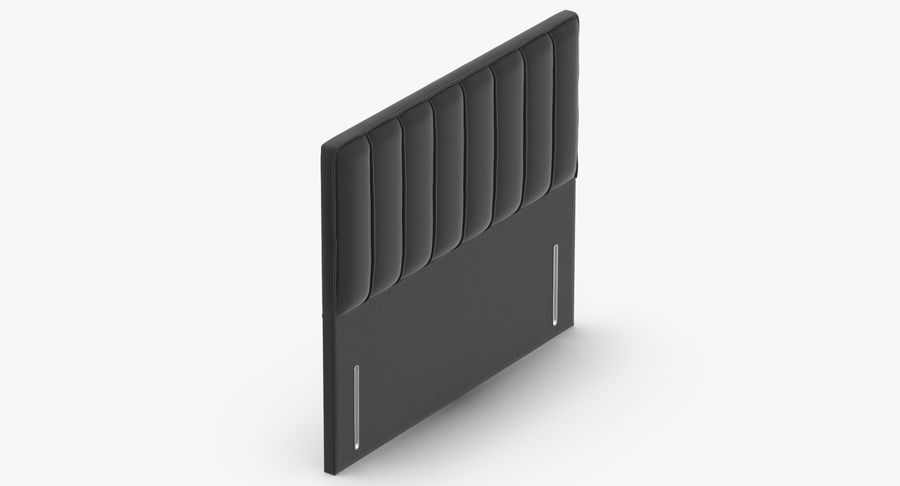 Headboard 04 Charcoal royalty-free 3d model - Preview no. 7