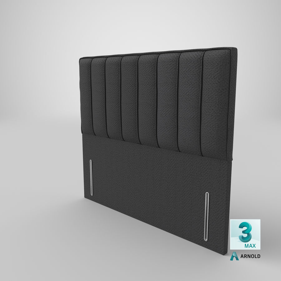 Headboard 04 Charcoal royalty-free 3d model - Preview no. 23
