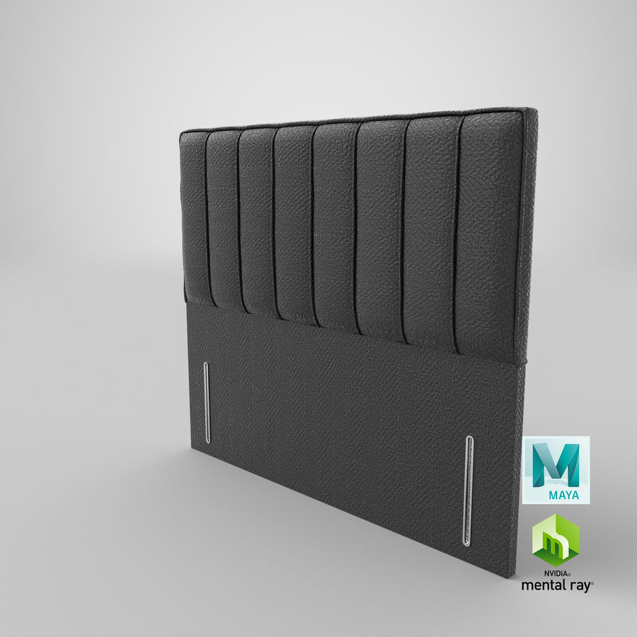 Headboard 04 Charcoal royalty-free 3d model - Preview no. 27