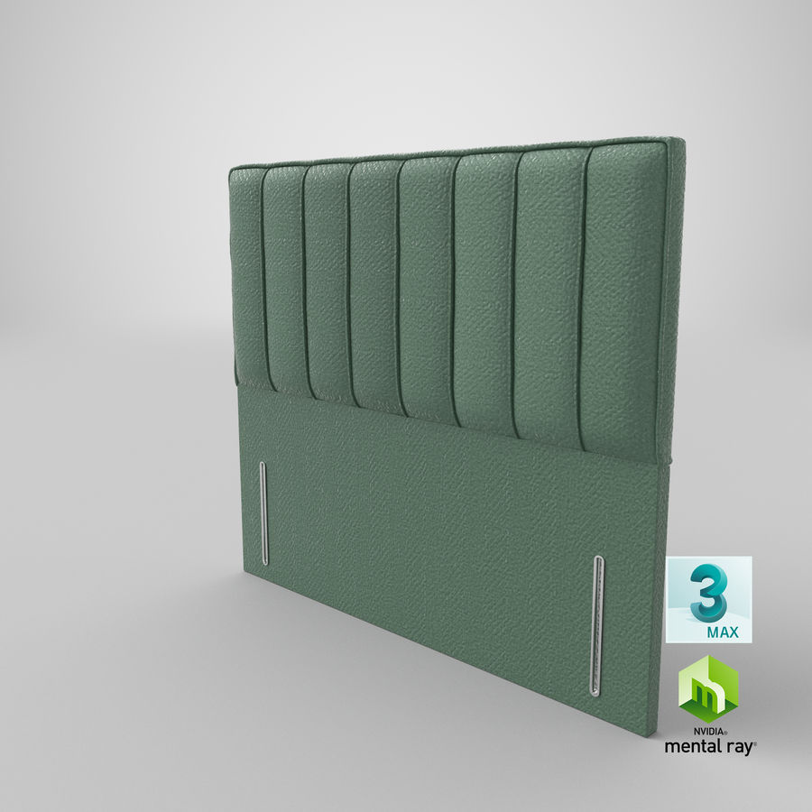 Headboard 04 Mint royalty-free 3d model - Preview no. 24