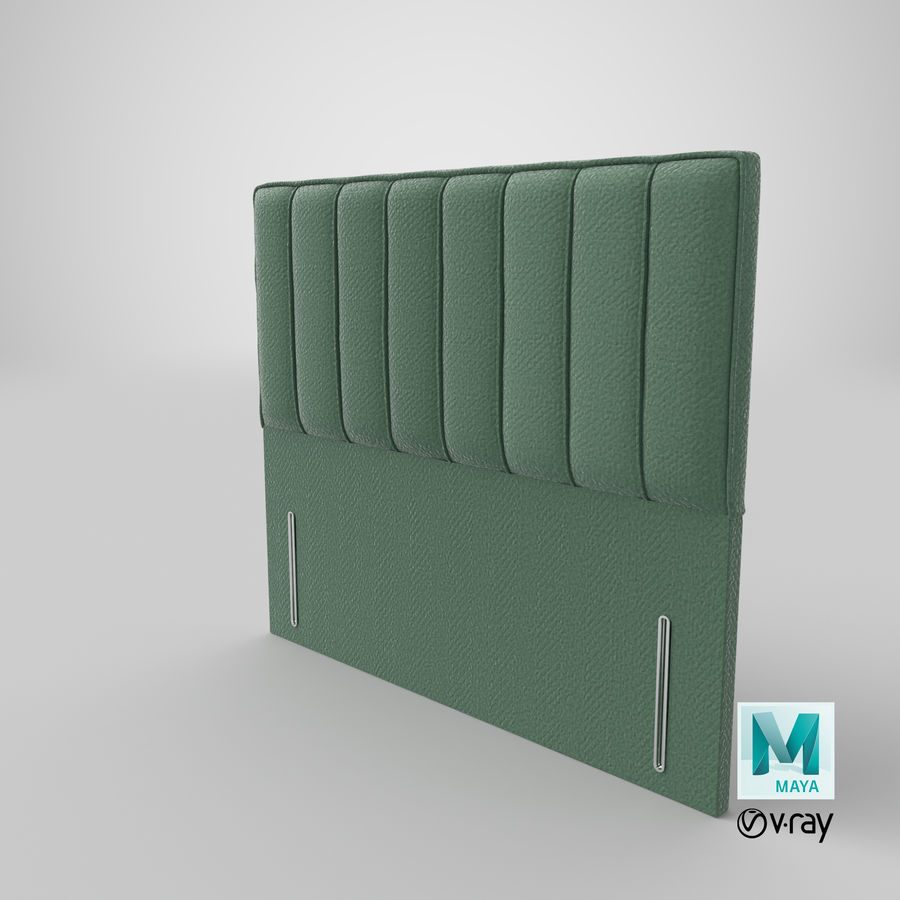 Headboard 04 Mint royalty-free 3d model - Preview no. 28