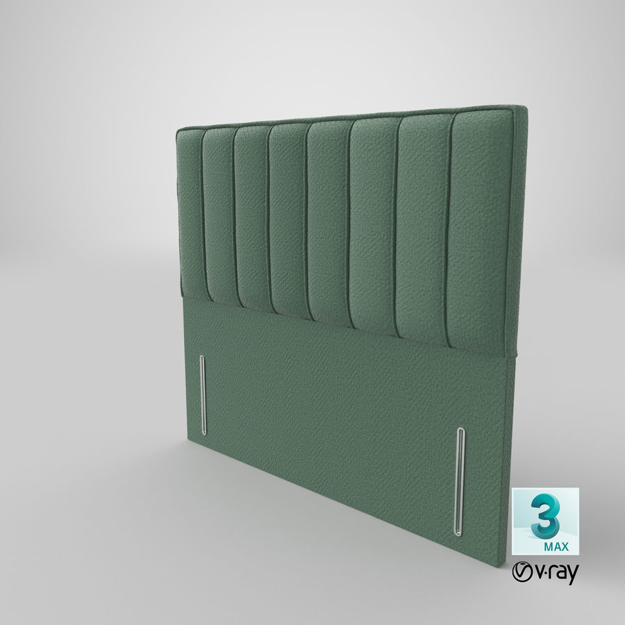 Headboard 04 Mint royalty-free 3d model - Preview no. 25