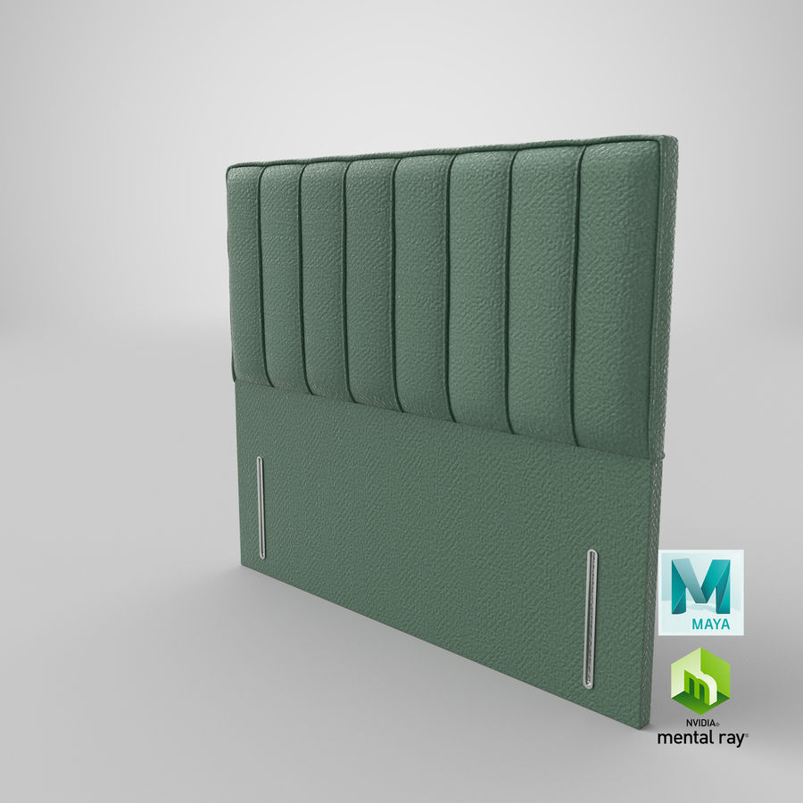 Headboard 04 Mint royalty-free 3d model - Preview no. 27
