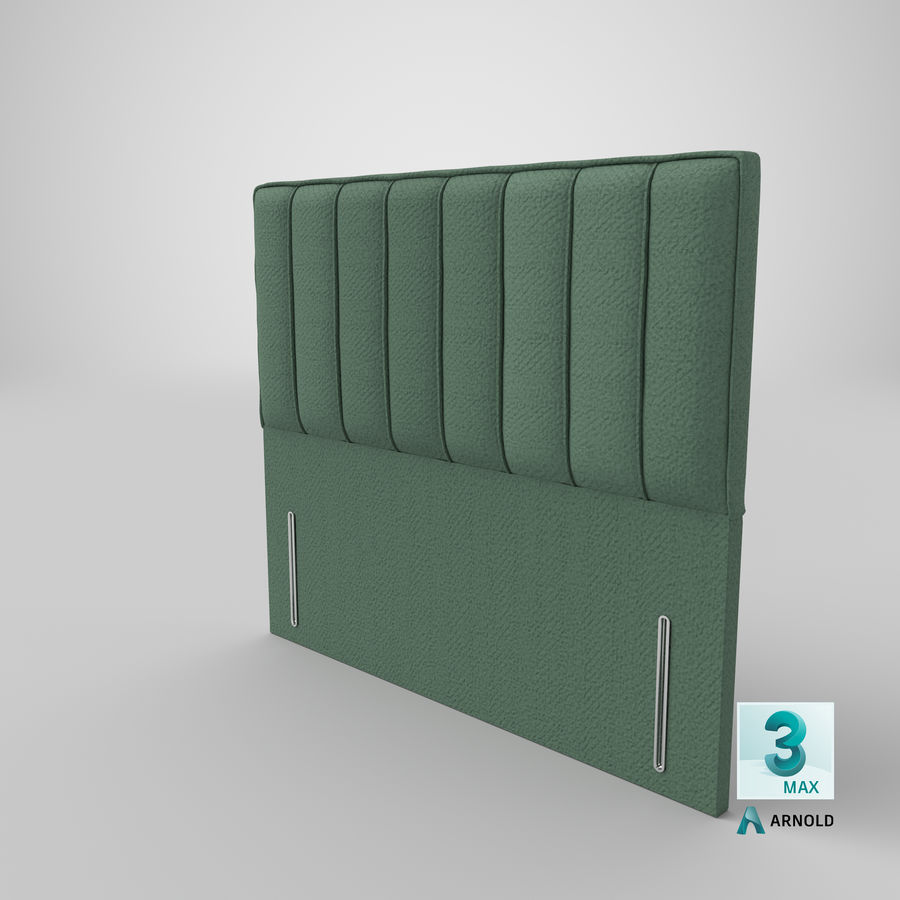 Headboard 04 Mint royalty-free 3d model - Preview no. 23