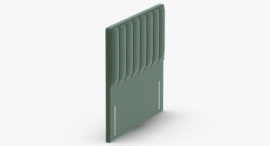 Headboard 04 Mint royalty-free 3d model - Preview no. 4