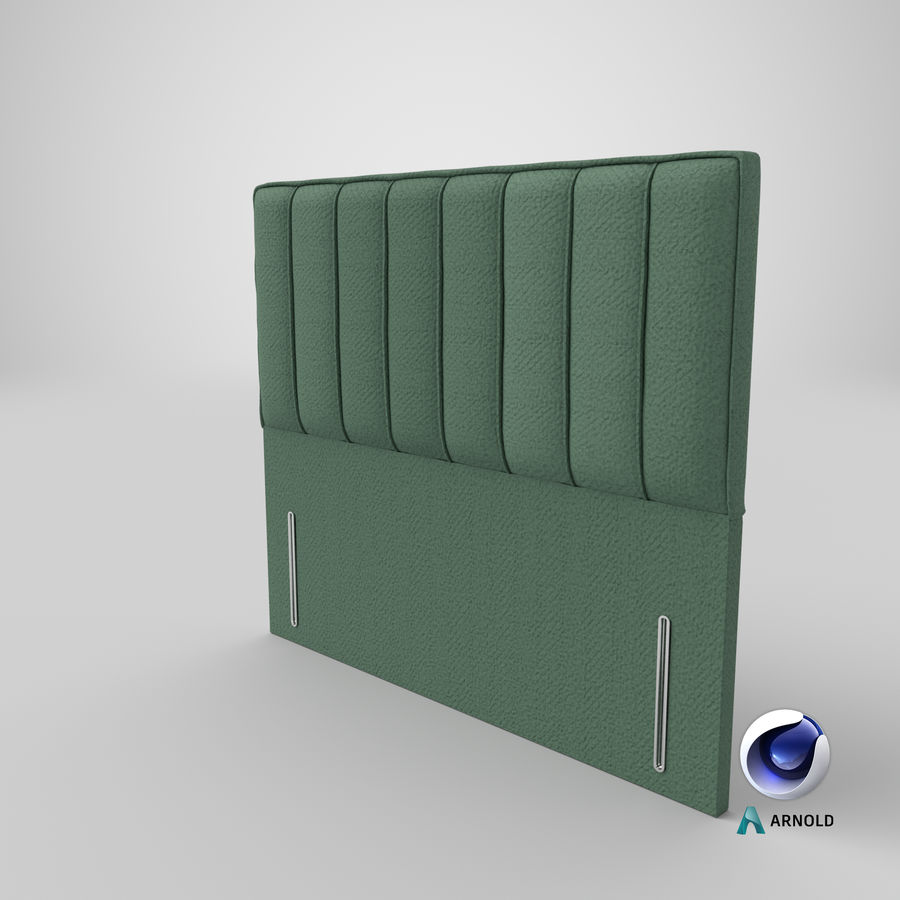 Headboard 04 Mint royalty-free 3d model - Preview no. 22