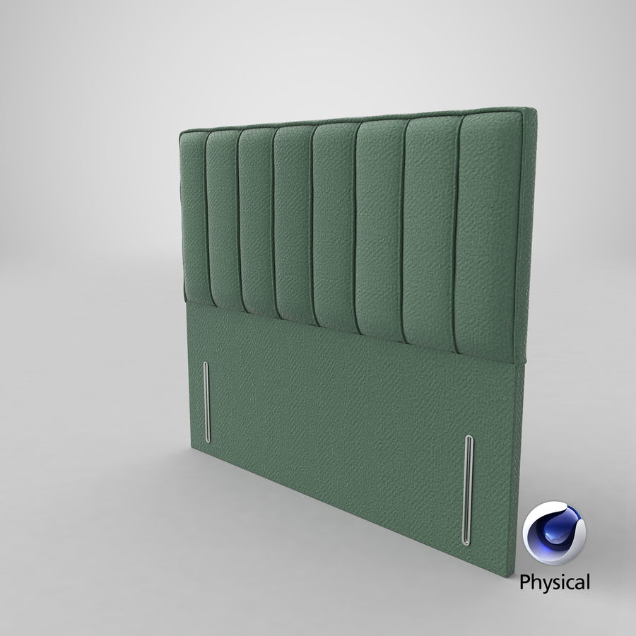 Headboard 04 Mint royalty-free 3d model - Preview no. 21