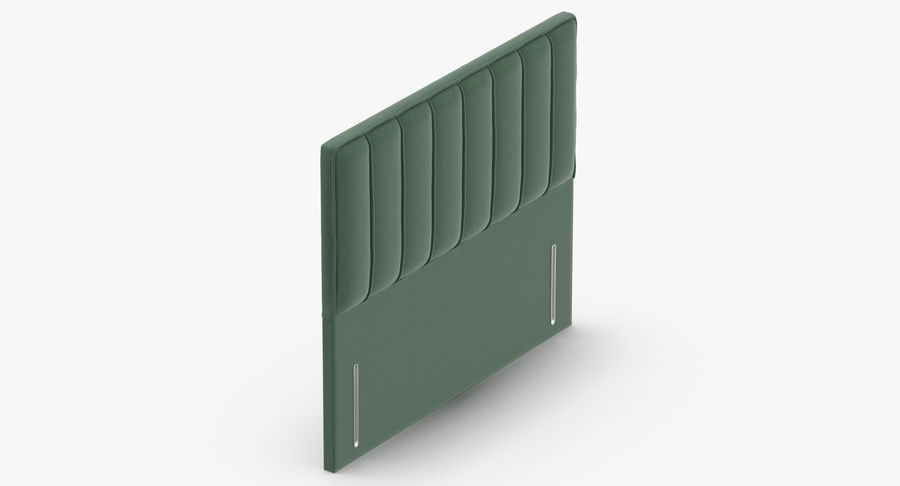 Headboard 04 Mint royalty-free 3d model - Preview no. 7