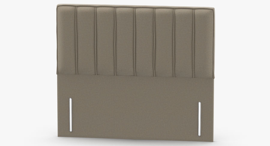 Headboard 04 Oatmeal royalty-free 3d model - Preview no. 5