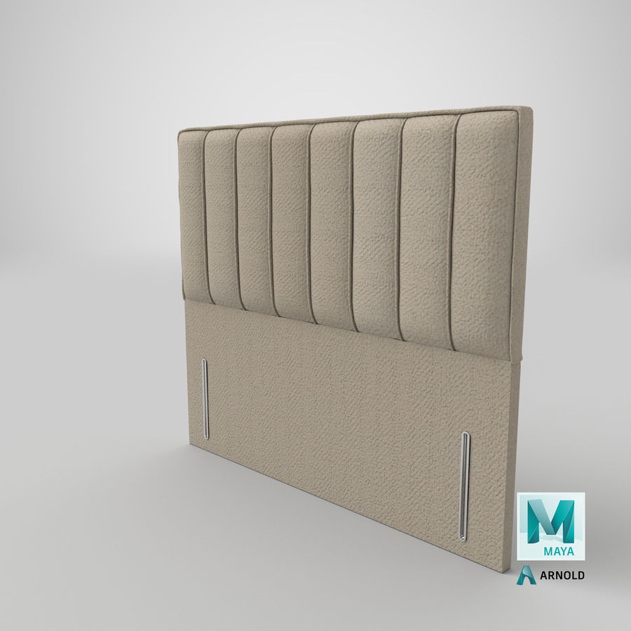 Headboard 04 Oatmeal royalty-free 3d model - Preview no. 26