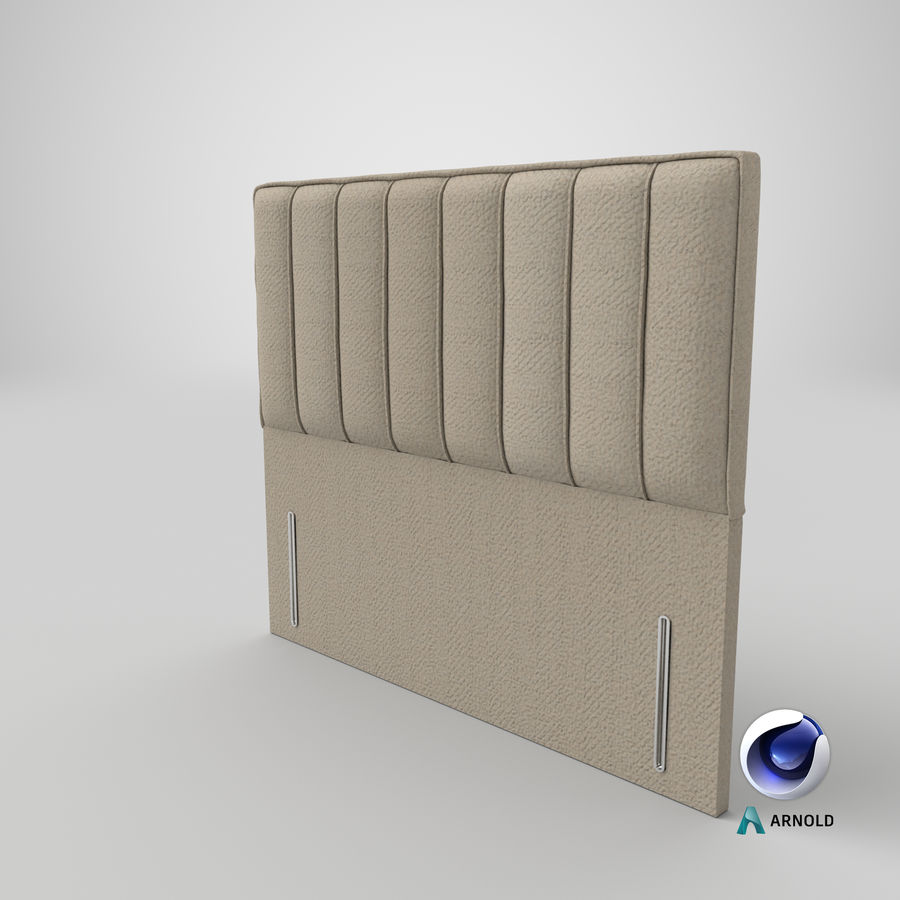 Headboard 04 Oatmeal royalty-free 3d model - Preview no. 22