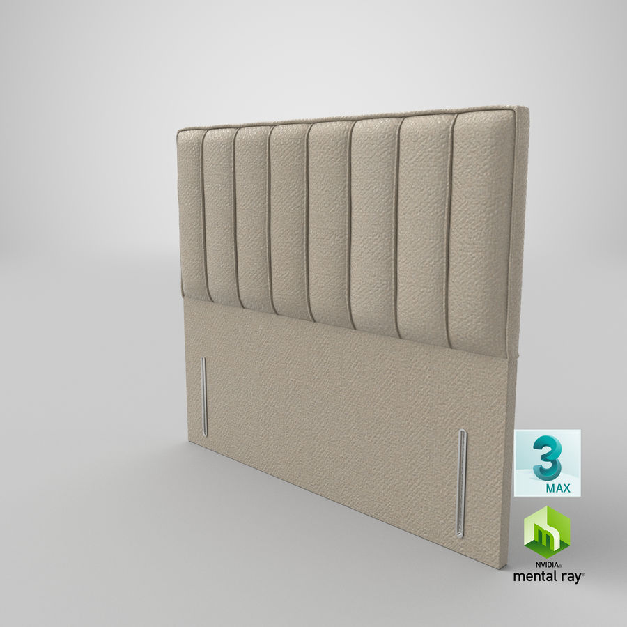 Headboard 04 Oatmeal royalty-free 3d model - Preview no. 24