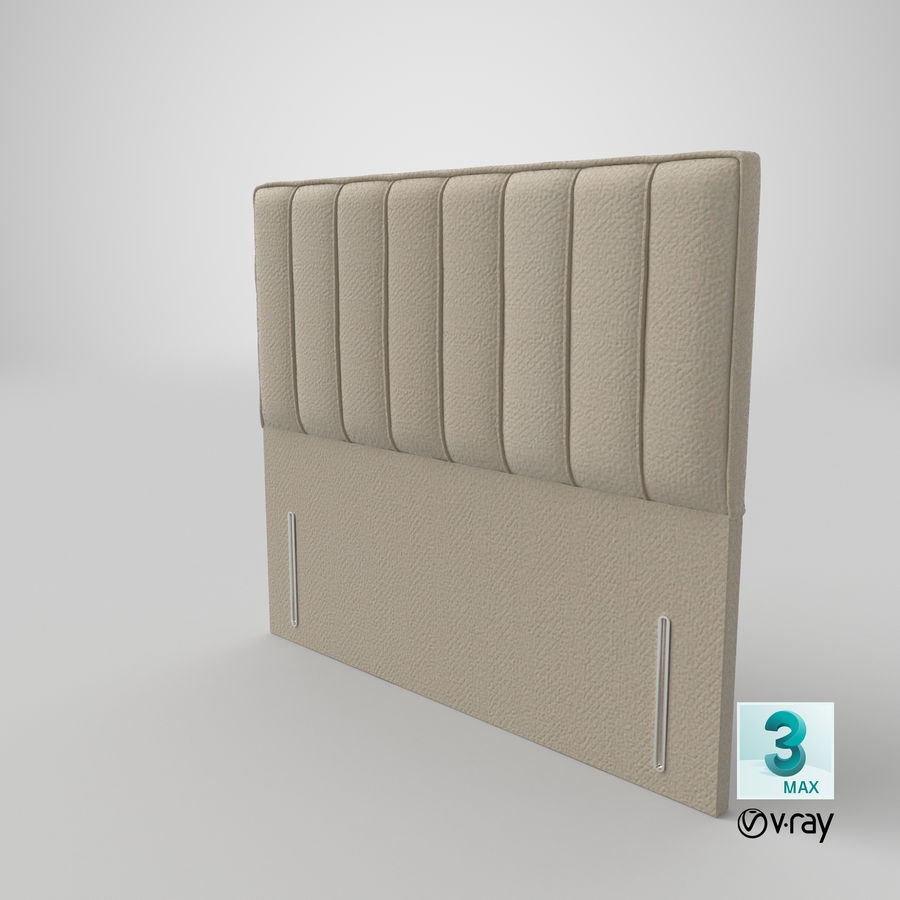 Headboard 04 Oatmeal royalty-free 3d model - Preview no. 25