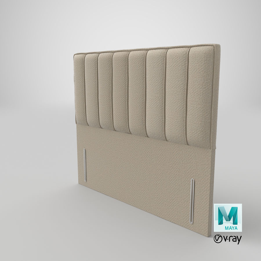 Headboard 04 Oatmeal royalty-free 3d model - Preview no. 28