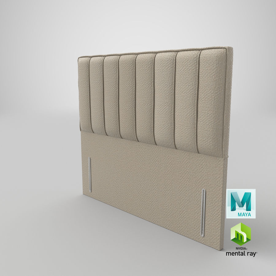 Headboard 04 Oatmeal royalty-free 3d model - Preview no. 27