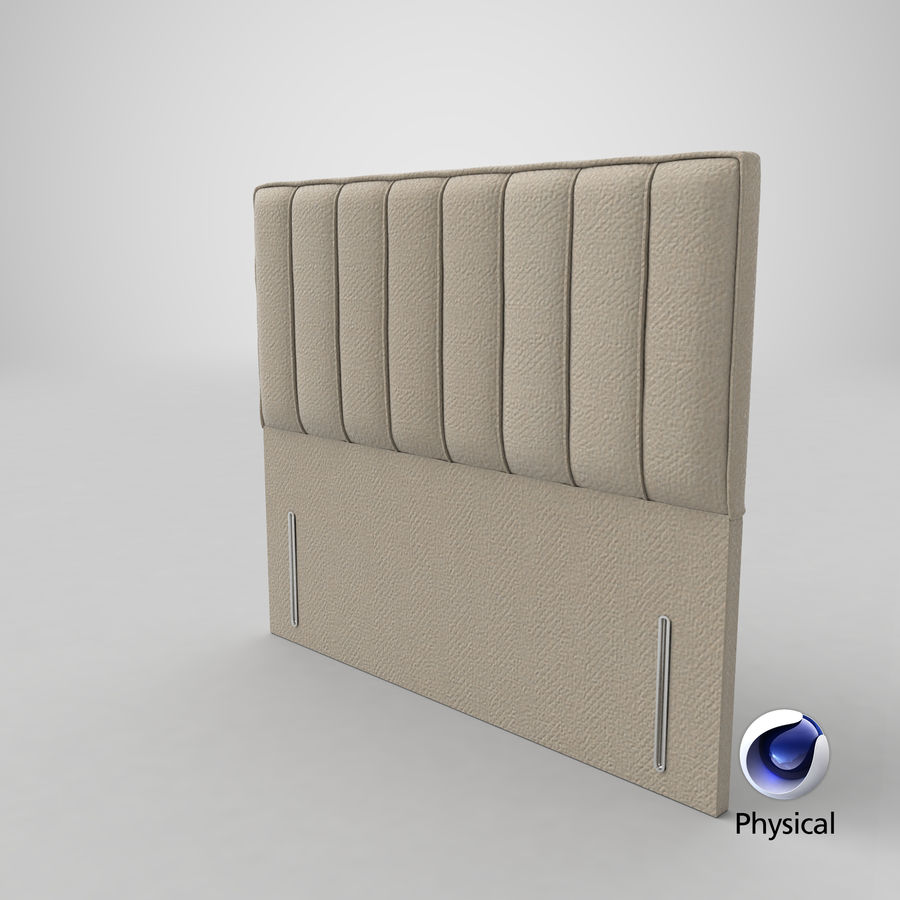 Headboard 04 Oatmeal royalty-free 3d model - Preview no. 21